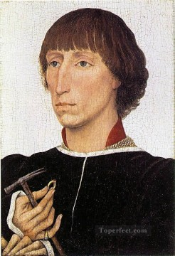 Francesco Canvas - Francesco dEste Netherlandish painter Rogier van der Weyden