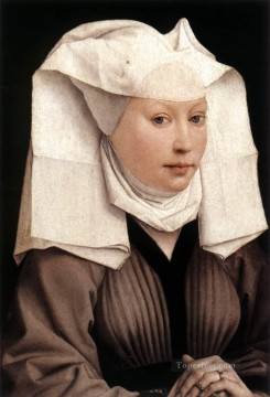Rogier van der Weyden Painting - Lady Wearing a Gauze Headdress painter Rogier van der Weyden
