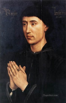 Rogier van der Weyden Painting - Portrait Diptych of Laurent Froimont right wing Rogier van der Weyden