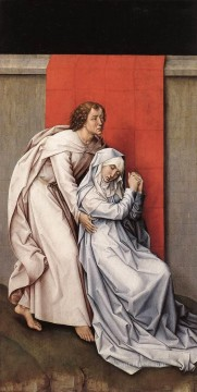 left Canvas - Crucifixion Diptych left panel painter Rogier van der Weyden