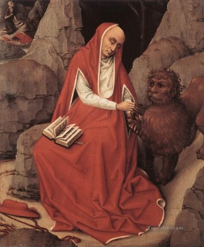 Rogier van der Weyden Painting - St Jerome and the Lion Netherlandish painter Rogier van der Weyden