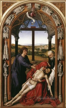Altarpiece Painting - Miraflores Altarpiece central panel Rogier van der Weyden
