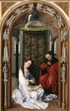 left Canvas - Miraflores Altarpiece left panel Rogier van der Weyden