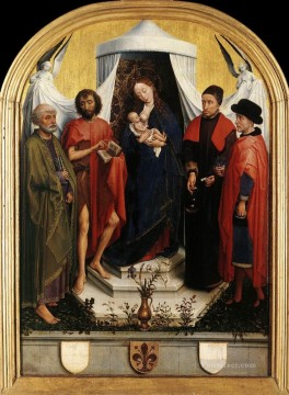 Rogier van der Weyden Painting - Virgin with the Child and Four Saints Rogier van der Weyden