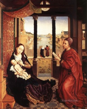 Rogier van der Weyden Painting - St Luke Drawing a Portrait of the Madonna 1450 Rogier van der Weyden