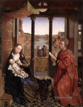 on - St Luke Drawing a Portrait of the Madonna Rogier van der Weyden