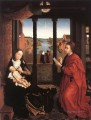 St Luke Drawing a Portrait of the Madonna undated Rogier van der Weyden