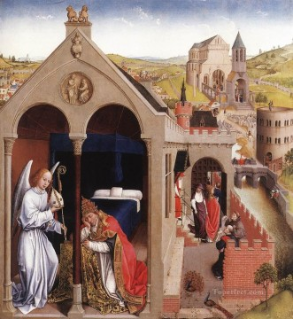 Rogier van der Weyden Painting - Dream of Pope Sergius Netherlandish painter Rogier van der Weyden