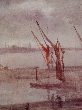Silver Painting - Chelsea Wharf Grey and Silver James Abbott McNeill Whistler