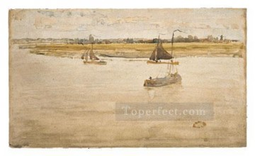 Row Painting - James Abbott McNeill Gold And Brown James Abbott McNeill Whistler