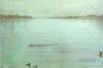 Silver Painting - Nocturne Blue and Silver James Abbott McNeill Whistler