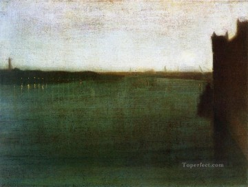 MC Oil Painting - Nocturne Grey and Gold James Abbott McNeill Whistler
