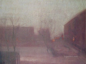 James Painting - Nocturne Trafalgar Square Chelsea Snow James Abbott McNeill Whistler