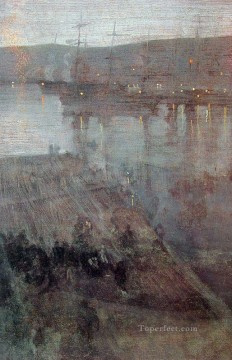 Nocturne in Blue and Gold Valparaiso Bay James Abbott McNeill Whistler Oil Paintings