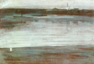 Symphony in Grey Early Morning Thames James Abbott McNeill Whistler Oil Paintings