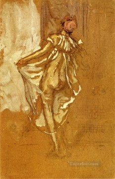 Dancing Art - A Dancing Woman in a Pink Robe Seen from the Back James Abbott McNeill Whistler