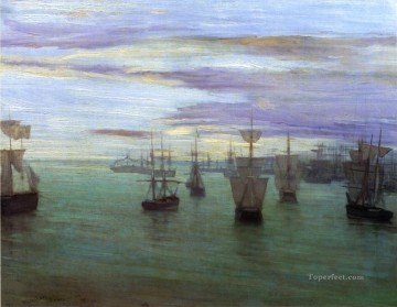MC Oil Painting - Crepuscule in Flesh Colour and Green Valparaiso James Abbott McNeill Whistler
