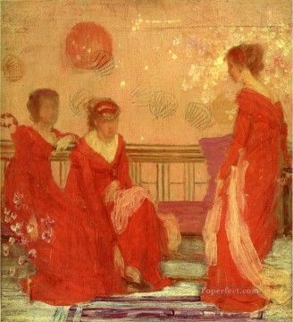 Harmony in Flesh Colour and Red James Abbott McNeill Whistler Oil Paintings