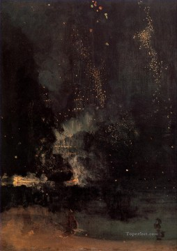 black Art - Nocturne in Black and Gold The Falling Rocket James Abbott McNeill Whistler