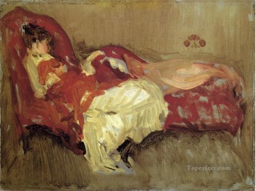 MC Oil Painting - Note in Red The Siesta James Abbott McNeill Whistler