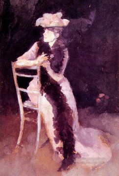 Silver Painting - Rose and Silver Portrait of Mrs Whibley James Abbott McNeill Whistler