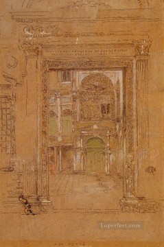 MC Oil Painting - Ste Giovani Apostolo et Evangelistae James Abbott McNeill Whistler