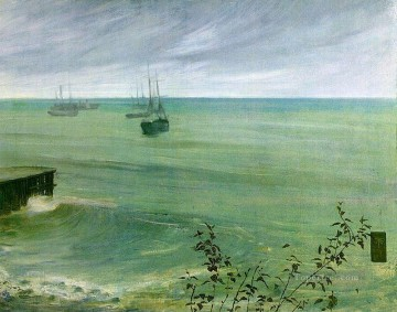 ocean Oil Painting - Symphony in Grey and Green The Ocean James Abbott McNeill Whistler