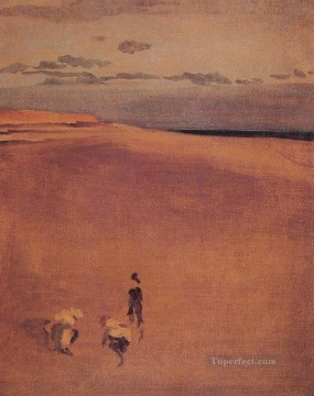 beach Painting - The Beach at Selsey Bill James Abbott McNeill Whistler