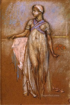 James Painting - The Greek Slave Girl aka Variations in Violet and Rose James Abbott McNeill Whistler
