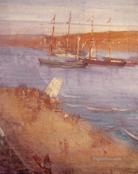 MC Oil Painting - The Morning After the Revolution James Abbott McNeill Whistler