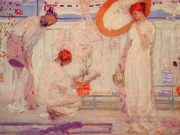 Girls Canvas - The White Symphony Three Girls James Abbott McNeill Whistler
