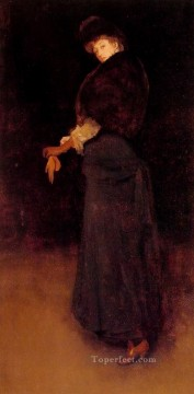 Arrangement in Black The Lady in the Yellow James Abbott McNeill Whistler Oil Paintings