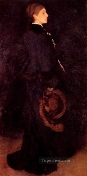 Row Painting - Arrangement in Brown and Black Portrait of Miss Rosa Corder James Abbott McNeill Whistler