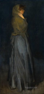 Arrangement in Yellow and Grey Effie Deans James Abbott McNeill Whistler Oil Paintings