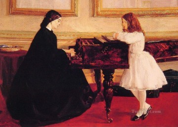 MC Oil Painting - At the Piano James Abbott McNeill Whistler