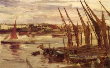 Battersea Reach James Abbott McNeill Whistler Oil Paintings