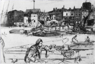 black Art - Black Lion Wharf James Abbott McNeill Whistler