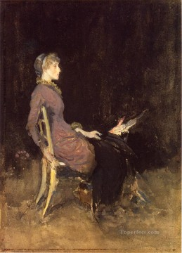 black Art - Black and Red aka Study in Black and Gold Madge ODonoghue James Abbott McNeill Whistler
