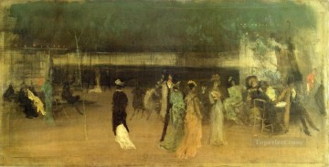 garden Oil Painting - Cremorne Gardens No 2 James Abbott McNeill Whistler