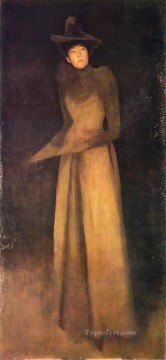 James Painting - Harmony in Brown The Felt Hat James Abbott McNeill Whistler