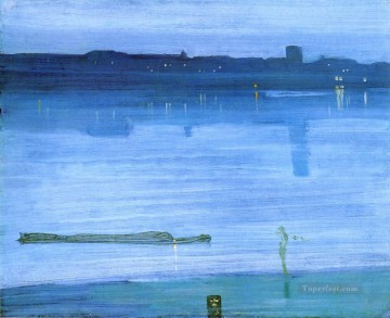 Silver Painting - Nocturne Blue and Silver Chelsea James Abbott McNeill Whistler