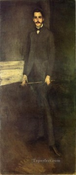 George Painting - Portrait of George W Vanderbilt James Abbott McNeill Whistler