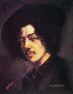 James Painting - Portrait of Whistler with Hat James Abbott McNeill Whistler