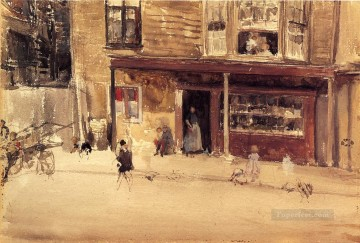 The Shop An Exterior James Abbott McNeill Whistler Oil Paintings