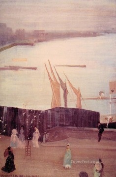 ink Art Painting - Variations in Pink And Grey Chelsea James Abbott McNeill Whistler