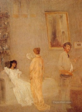 James Abbott McNeill Whistler Painting - in his Studio James Abbott McNeill Whistler