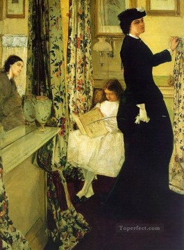 rose roses Painting - Harmony in Green and Rose The Music Room James Abbott McNeill Whistler