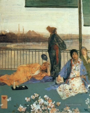 James Abbott McNeill Whistler Painting - Variations in Flesh Colour and Green The Balcony James Abbott McNeill Whistler