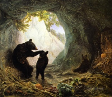 Beard Canvas - Bear and Cubs William Holbrook Beard