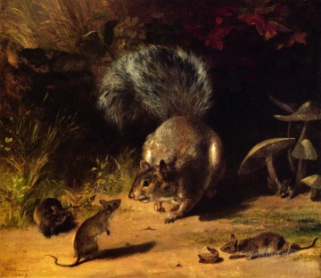Beard Canvas - Squirrel and Mice William Holbrook Beard